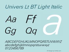 Univers Lt BT