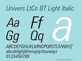 Univers LtCn BT