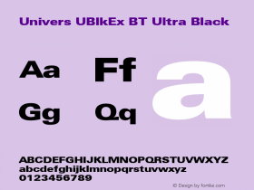 Univers UBlkEx BT