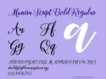 Munira Script Bold