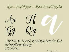 Munira Script Regular