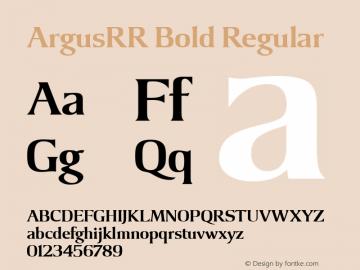 ArgusRR Bold