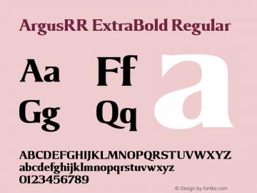 ArgusRR ExtraBold