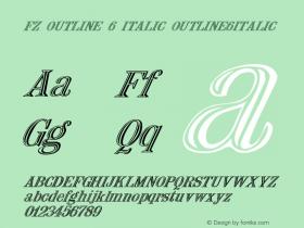 FZ OUTLINE 6 ITALIC