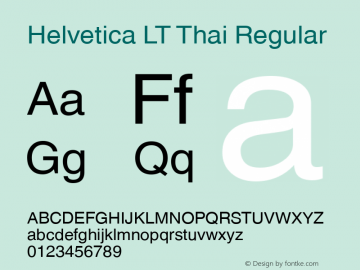 Helvetica LT Thai