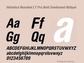 Helvetica Rounded LT Pro
