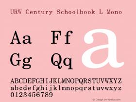 URW Century Schoolbook L