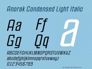 Anorak Condensed
