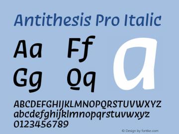 Antithesis Pro