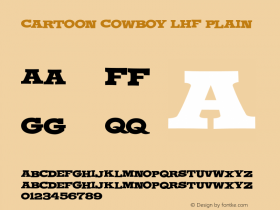 Cartoon Cowboy LHF