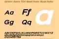 Sinkin Sans 700 Bold Italic