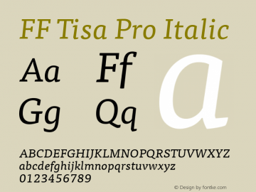 FF Tisa Pro