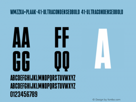 WMZZXA+Plaak-41-UltracondensedBold