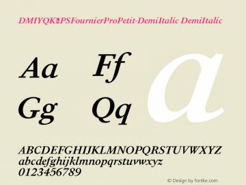 DMIYQK+PSFournierProPetit-DemiItalic