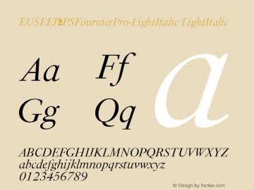 EUSEEI+PSFournierPro-LightItalic