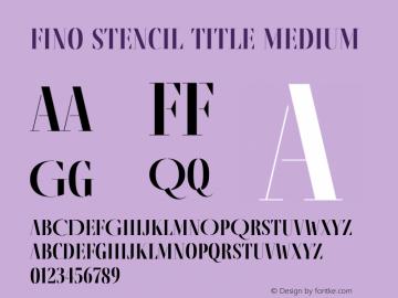 Fino Stencil Title