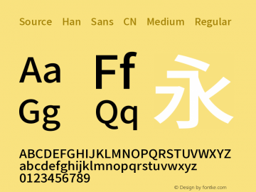 Source Han Sans CN Medium