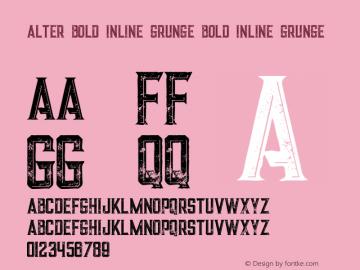 Alter Bold Inline Grunge
