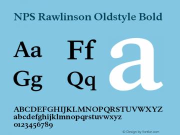 NPS Rawlinson Oldstyle