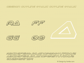 Oberon Outline Italic