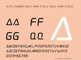 Elite Danger Bold Semi-Italic