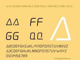 Elite Danger Semi-Bold Semi-Italic