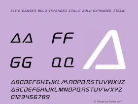 Elite Danger Bold Expanded Italic