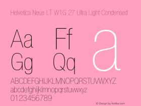Helvetica Neue LT W1G