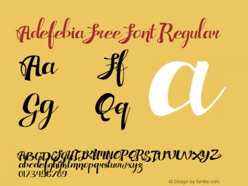 Adefebia Free Font