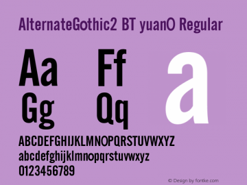 AlternateGothic2 BT yuanO