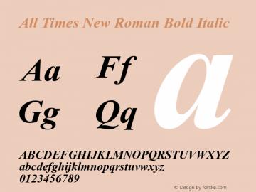 All Times New Roman