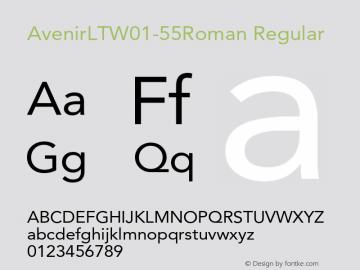 AvenirLTW01-55Roman