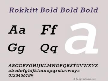Rokkitt Bold Bold