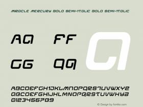 Miracle Mercury Bold Semi-Italic