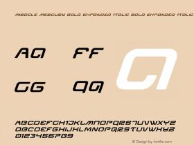 Miracle Mercury Bold Expanded Italic