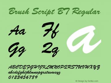Brush Script BT