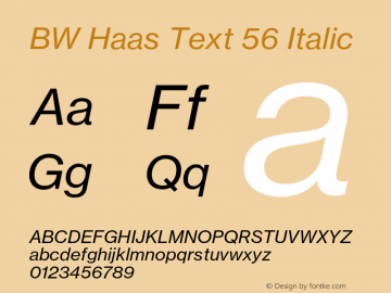 BW Haas Text