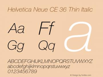 Helvetica Neue CE 36 Thin