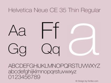 Helvetica Neue CE 35 Thin