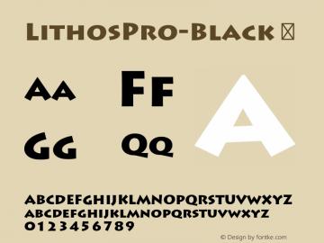 LithosPro-Black