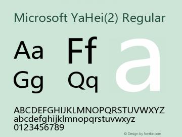 Microsoft YaHei(2)