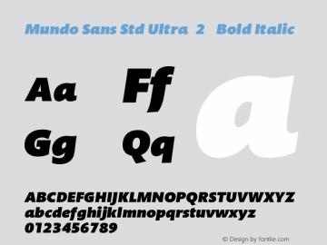 Mundo Sans Std Ultra(2)