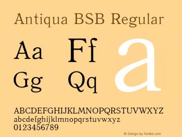 Antiqua BSB