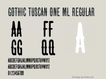 Gothic Tuscan One ML