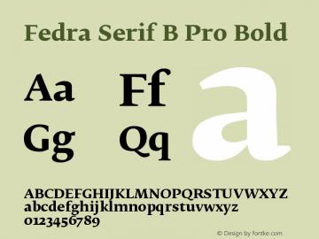 Fedra Serif B Pro