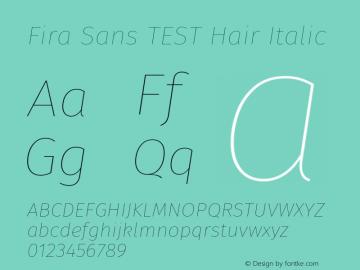 Fira Sans TEST