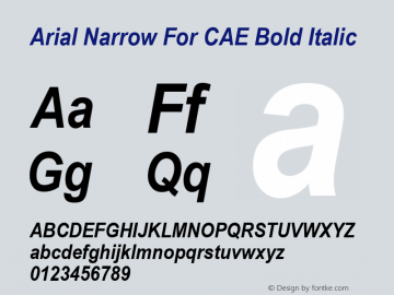 Arial Narrow For CAE