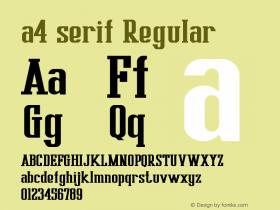 a4 serif