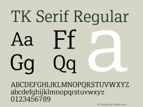 TK Serif