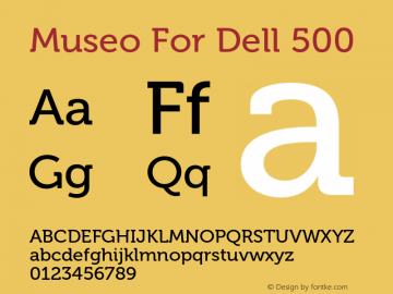 Museo For Dell